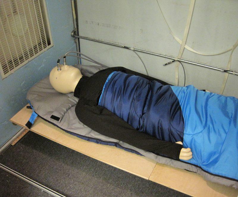 Тестування спальника на максимальну температуру