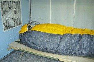 Спальник в тестовой камере