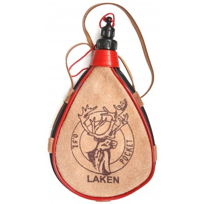 Фляга Laken Leather Canteen 0.5L Straight