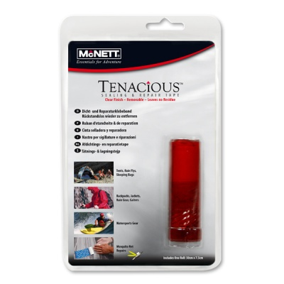 Ремонтная лента McNETT Tenacious Repair Tape Black Nylon (7.5 x 50cm)